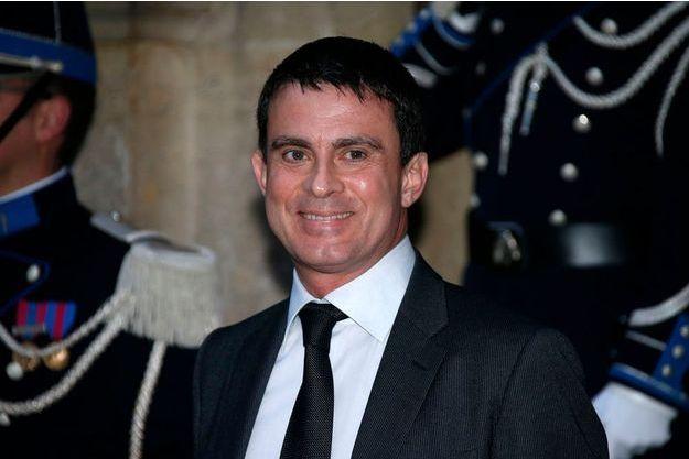Manuel Valls le 3 janvier à au ministère de l'Intérieur pour le déjeuner du nouvel an.
