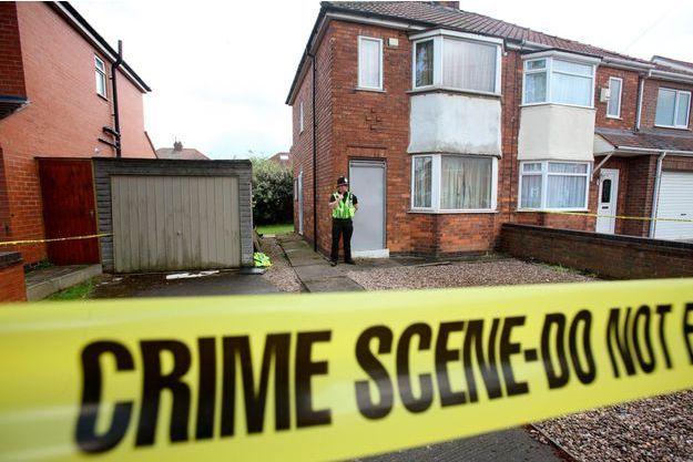 La maison de North Shields où Michael Snelling a été arrêté mardi matin.