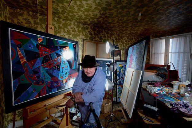 Guy Ribes dans son atelier