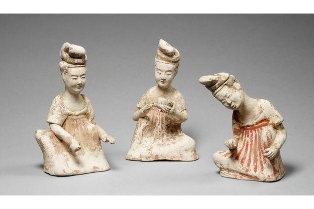 Figurines féminines préparant le thé, première moitié du VIIe siècle.