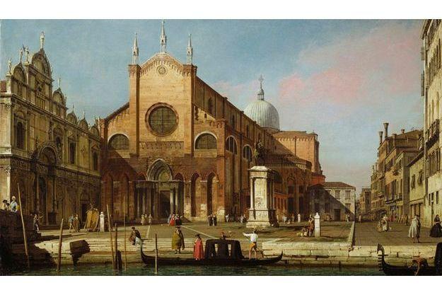 Canaletto : « Le Campo Santi Giovanni e Paolo », vers 1738-1739, huile sur toile, 46,4 cm x 78,1 cm, Londres, The Royal Collection, prêt de Sa Majesté Elizabeth II.