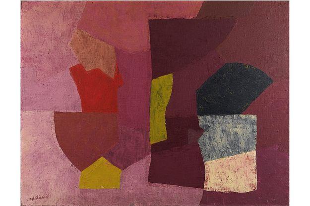 Serge Poliakoff Mauve violet et rose, 1954 Huile sur toile 89 x 116 cm Collection particulière