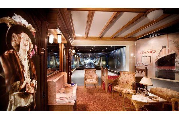 Reconstitution d'une cabine de première classe.