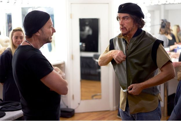 Le photographe Sandro Miller et John Malkovich en Che Guevara.