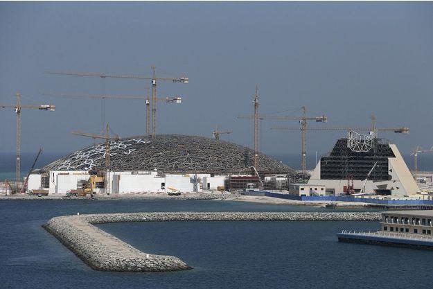 Le site du Louvre d'Abou Dhabi en construction en 2014.