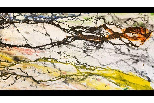 Revolution, n° 0001, 2010 mixed media on canvas 198 x 396 cm