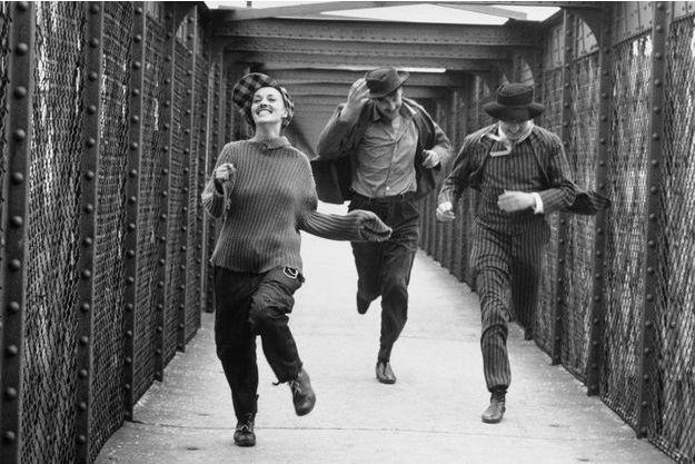 « Jules et Jim » de François Truffaut avec Jeanne Moreau, Henri Serre et Oskar Werner, 1961.
