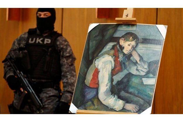 «Jeune garçon au gilet rouge» de Cézanne a été retrouvé mercredi en Serbie.