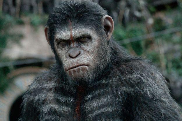 """Andy Serkis en César dans """"La Planète des singes: l'affrontement""""."""