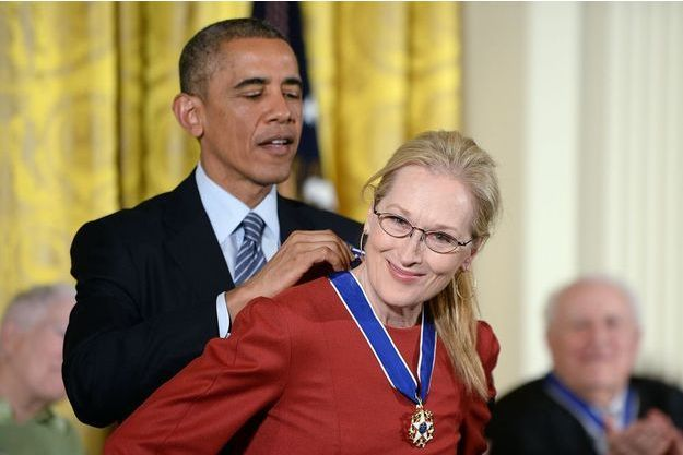 Meryl Streep a reçu la médaille présidentielle de la liberté ce 24 novembre à la Maison-Blanche