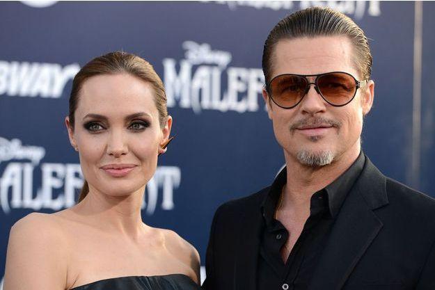 Angelina Jolie et Brad Pitt en mai 2014 à Los Angeles