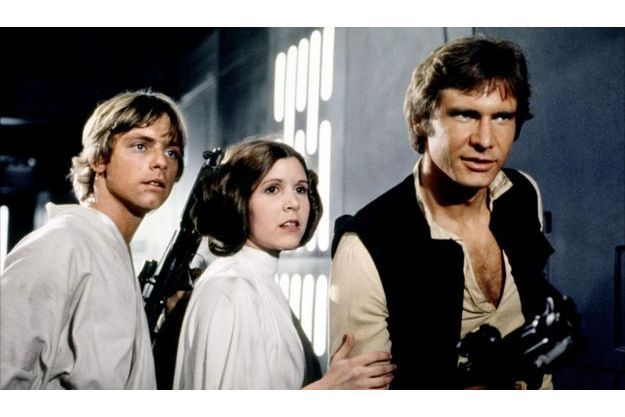 Mark Hamill, Carrie Fisher et Harrison Ford.