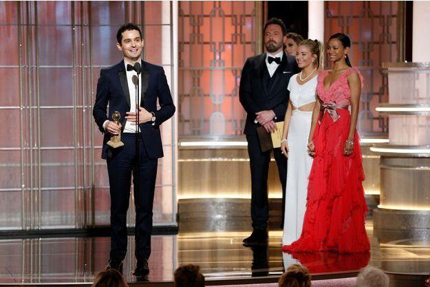 Damien Chazelle sur la scène des Golden Globes, dimanche dernier.