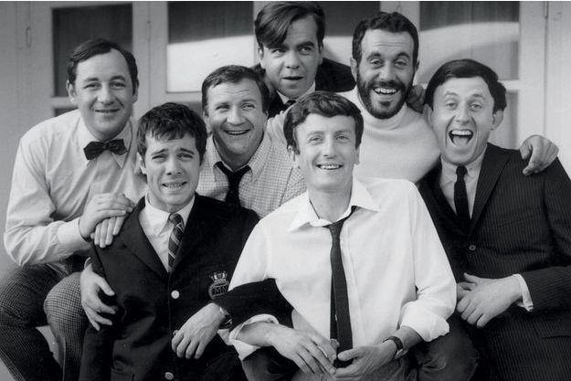 «Les copains», d'Yves Robert, en 1964 (de g. à dr.): Philippe Noiret, Guy Bedos, Pierre Mondy, Michael Lonsdale, Claude Rich et Jacques Balutin.