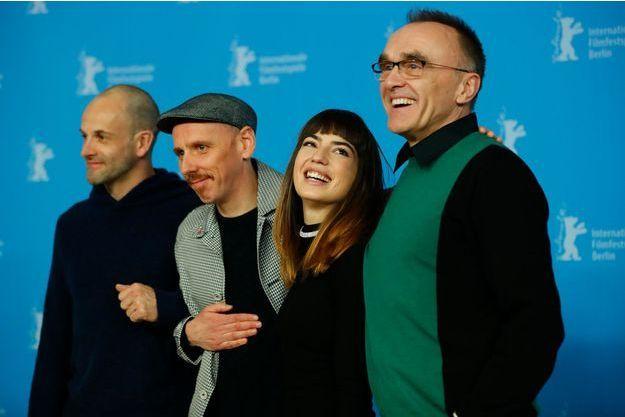 Jonny Lee Miller, Ewen Bremner, Anjela Nedyalkova et Danny Boyle lors du 67e Festival de Berlin.