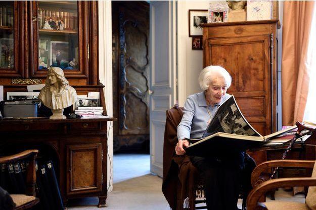 Gisèle Casadesus, à son domicile en 2014.