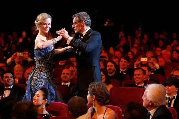 Un moment magique de la cérémonie d'ouverture: Lambert Wilson qui danse la Rumba avec Nicole Kidman.