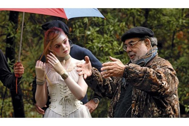 Le réalisateur Francis Ford Coppola en compagnie de l'actrice Elle Fanning.