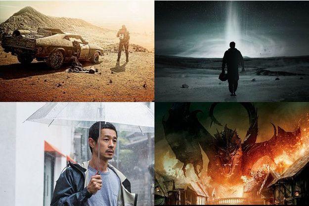 """Mad Max: Fury Road"", ""Interstellar"", ""Hill of Freedom"" et ""Le Hobbit 3: La Bataille des cinq armées""."