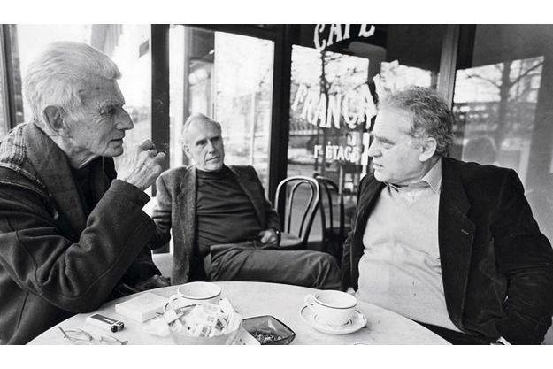 De g. à dr. : Samuel Beckett, son éditeur Barney Rosset et Jack Garfein à Paris dans les années 1960.
