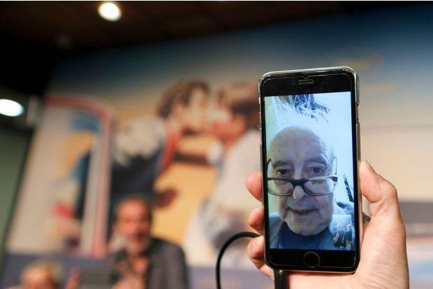 Photo prise lors de la conférence de presse du «Livre d'image» de Jean-Luc Godard