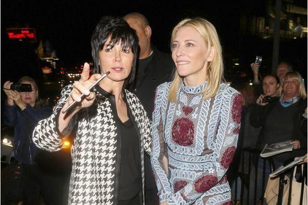 Cate Blanchett à son arrivée à la soirée du magazine W.