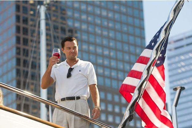 "Leonardo DiCaprio dans ""Le Loup de Wall Street""."