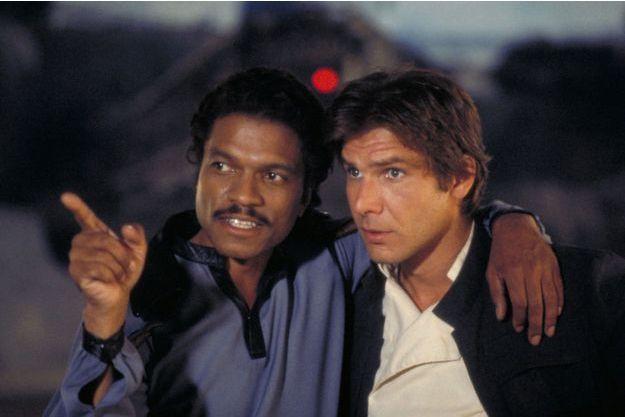"""Billie Dee Williams et Harrison Ford dans """"L'Empire contre-attaque""""."""