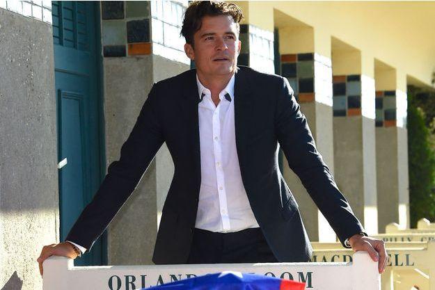 Orlando Bloom a inauguré sa cabine lors du 41e Festival de Deauville.