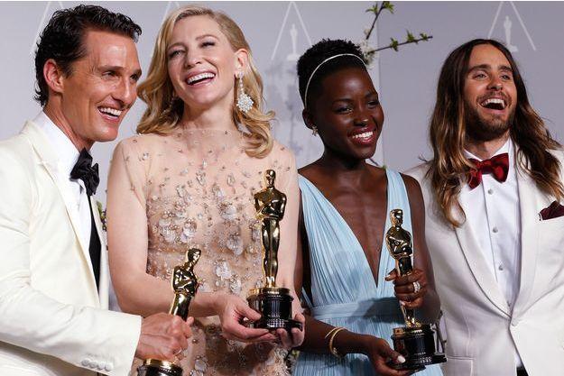 Matthew McConaughey, Cate Blanchett, Lupita Nyong'o, Jared Leto... Les quatre acteurs vainqueurs de la 86e cérémonie des Oscars