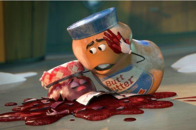 """""""Sausage Party"""" comporte aussi des scènes violentes... contre des pots de confiture."""