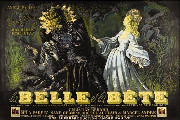 """L'affiche de """"La Belle et la Bête"""" de Jean Cocteau"""