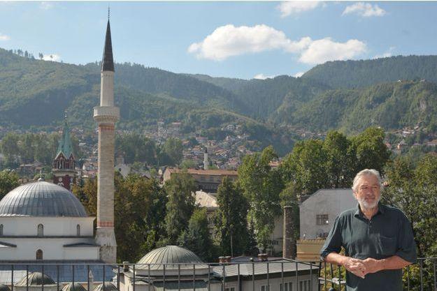 Robert De Niro sur le toit de l'hotel Président à Sarajevo, le samedi 13 août