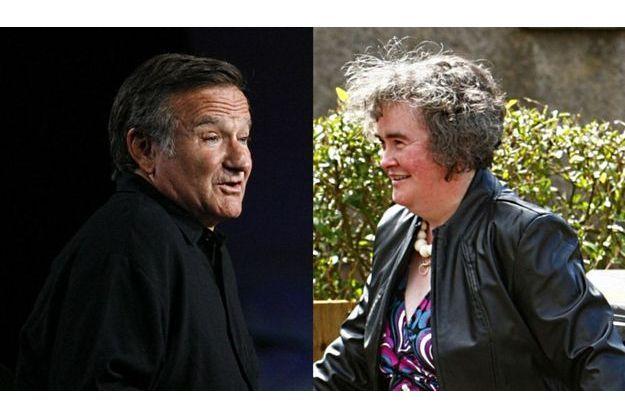 Robin Williams aimerait interpréter Susan Boyle au cinéma.