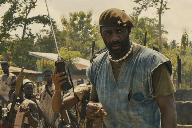 """Beasts of no Nation"". Idris Elba en chef de guerre qui dirige une troupe d'enfants-soldats."