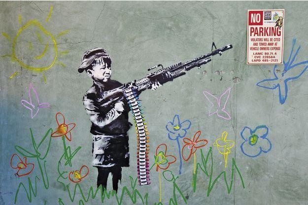 «Crayola» de Banksy, Westwood, Los Angeles.