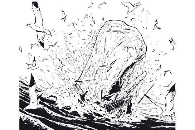 « Moby Dick, livre second », éd. Vent d'Ouest, 136 pages, 18,50 euros.