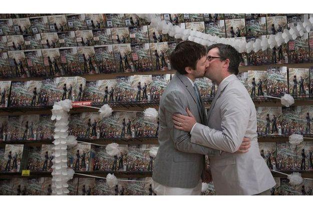 Scott et Jason se sont mariés dans une boutique de comics de New York.