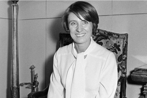 La romancière Françoise Mallet-Joris, photographiée en décembre 1970.