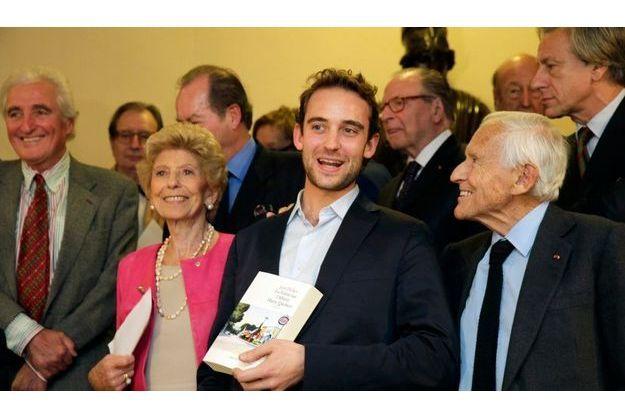 Joël Dicker, le jour où il a reçu le Grand prix de l'académie française.
