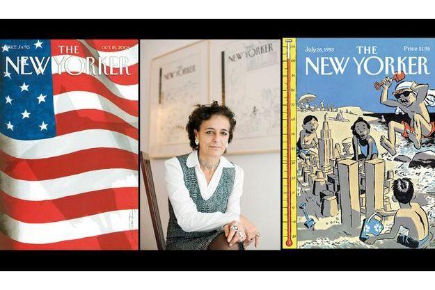 Françoise Mouly entre deux unes du New Yorker