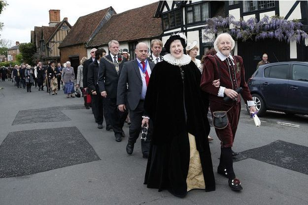 A Stratford-upon-Avon, le 27 avril 2014, les habitants célèbrent la naissance de William Shakespeare.