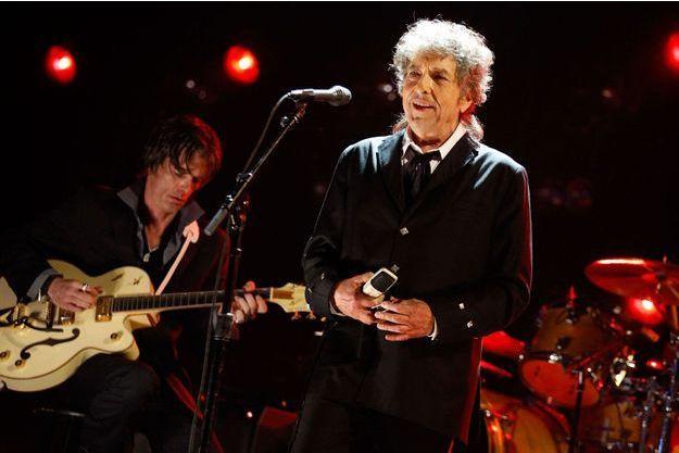 Bob Dylan lors d'un concert à Hollywood en 2012.