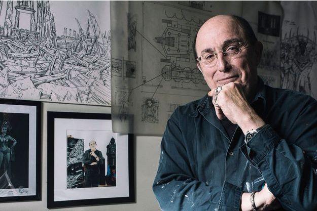 Philippe Druillet dans son atelier
