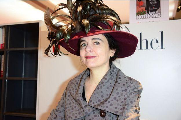 Amélie Nothomb en mars 2016 au Salon du livre.