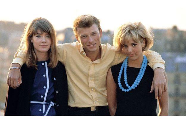 Johnny, Sylvie et... Françoise. Avril 63.