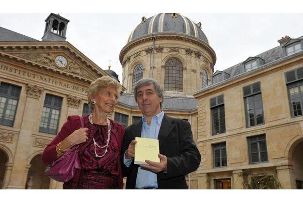 Helène Carrere d'Encausse et Sorj Chalandon.