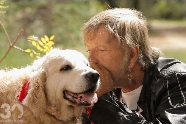 Renaud et son chien Suny.