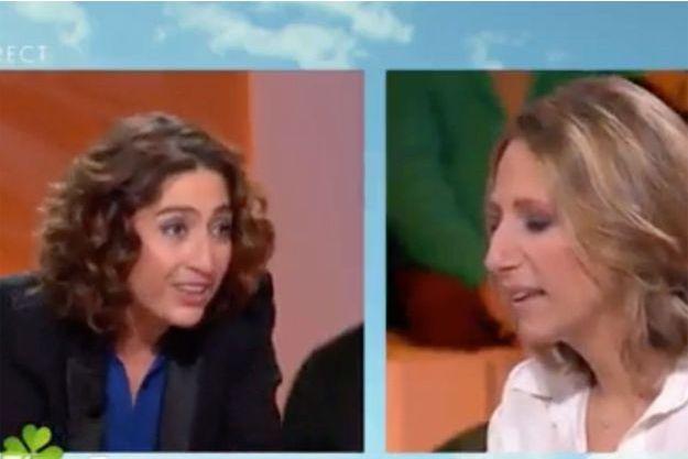 """Isabelle Saporta et Maud Fontenoy sur le plateau d'""""AcTualiTy"""" vendredi."""