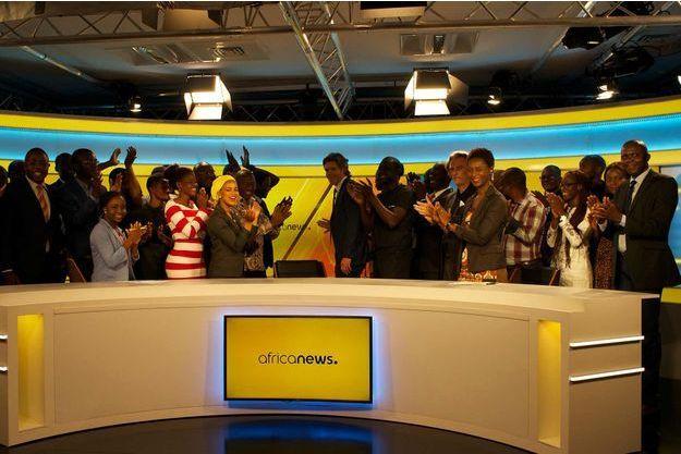 Africanews le jour de son lancement, le 20 avril.